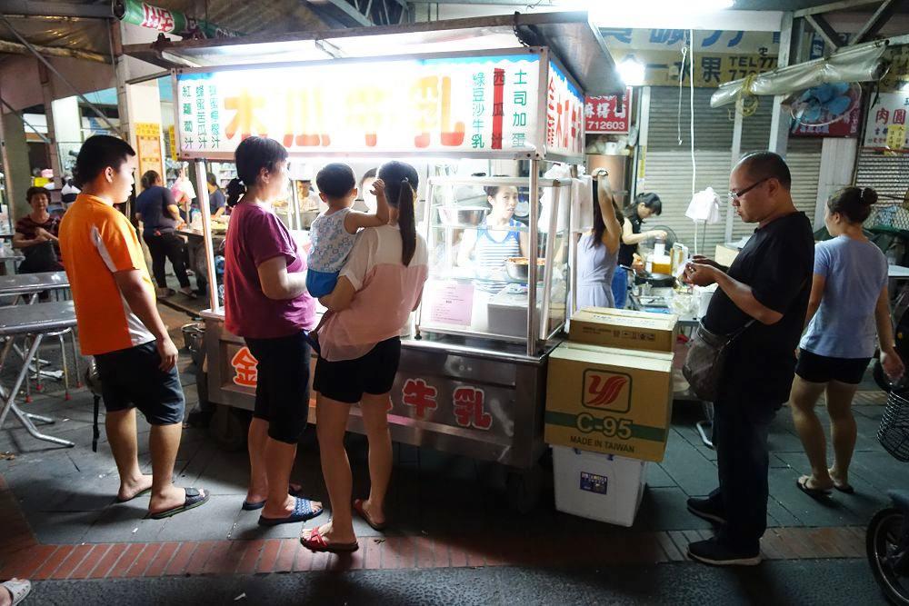 鹿港美食》第一市場金龍木瓜牛乳。鹿港在地人內行人吃法,吃木瓜牛乳配土司加蛋。