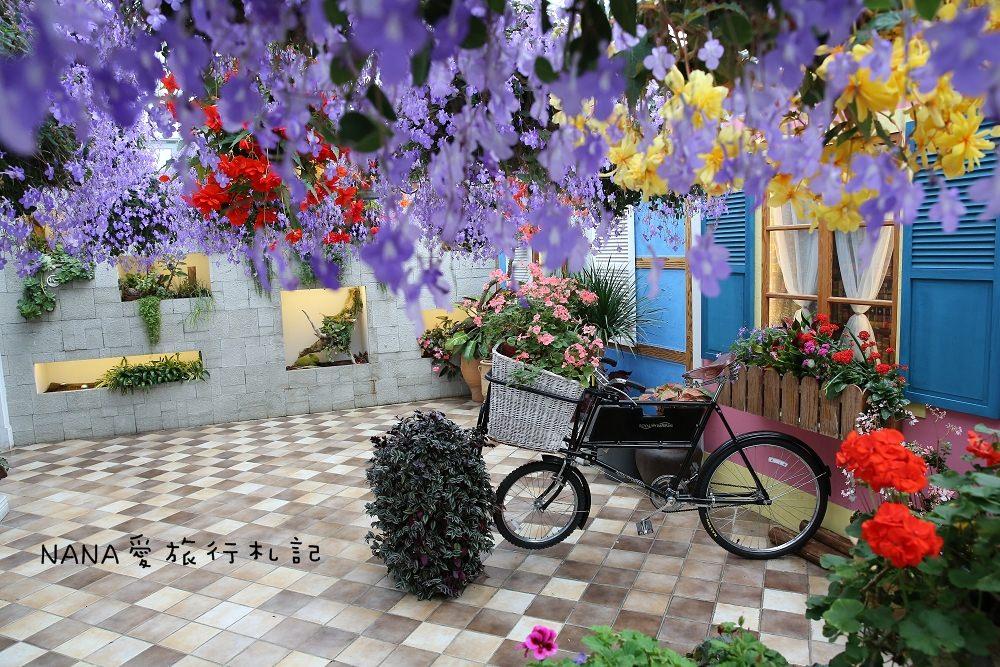 彰化田尾》菁芳園。歐風造景療癒花園,紫色夢幻海豚花,落羽松如似北國風情