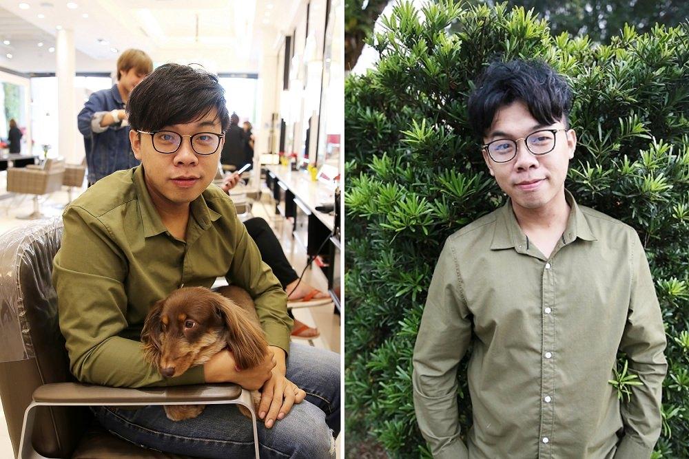 台中美髮》Happy hair大里店。除了油頭以外韓國男神髮型,韓星孔劉歐巴頭造型