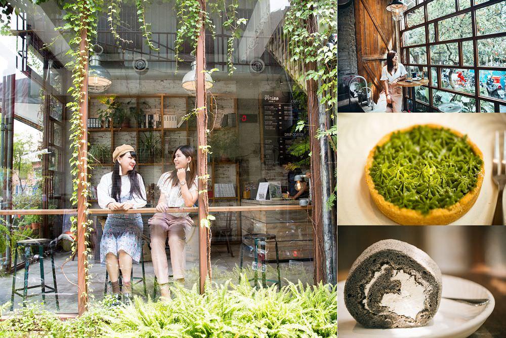 員林咖啡店》右舍咖啡。彰化IG打卡熱點,宛如置身韓國玻璃屋咖啡店,甘單抹茶卷超推