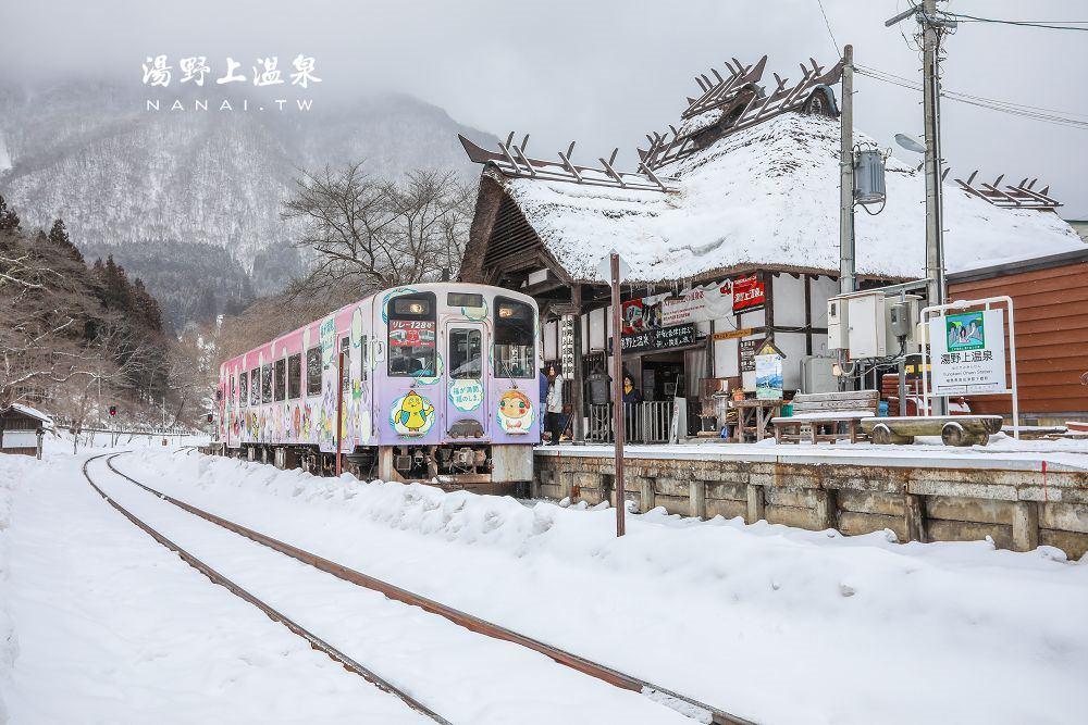 日本福島》湯野上溫泉駅。日本百大神祕小站,以茅草屋造型特色車站