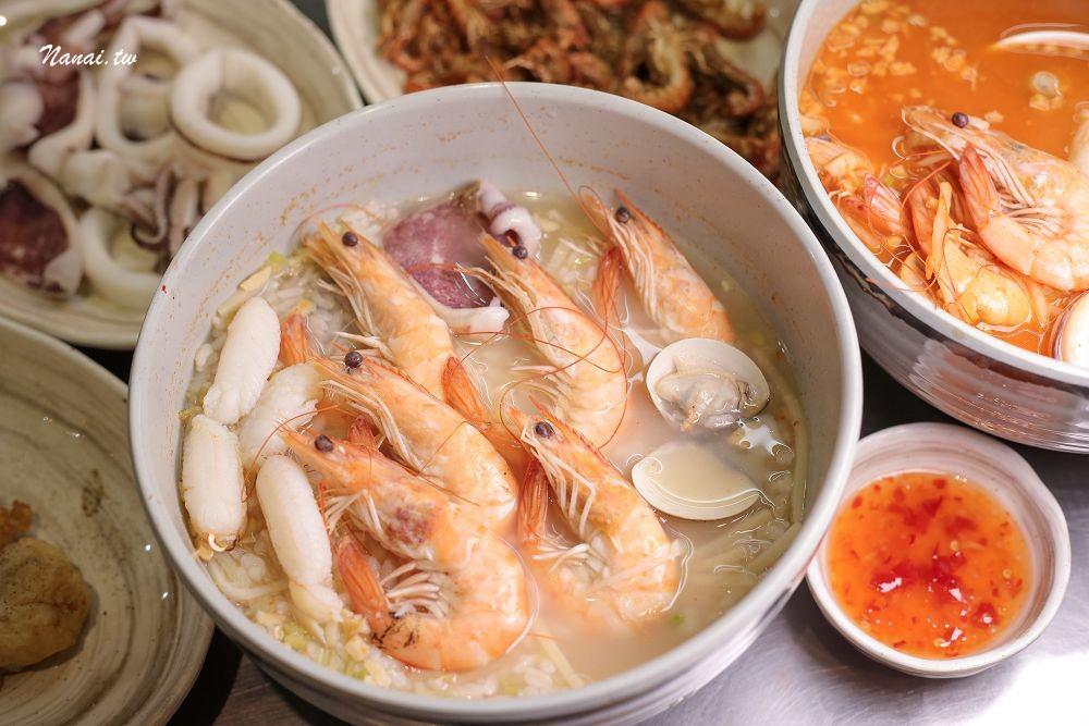 彰化市》拚鮮海產泡飯。南部口味海鮮泡飯,吃到痛風也甘願