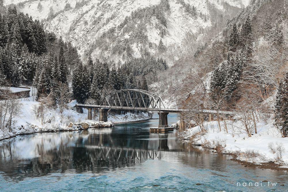 日本東北》只見川第四鐵橋拍攝點。冬季幻夢鐵道,如詩如畫根本在作夢