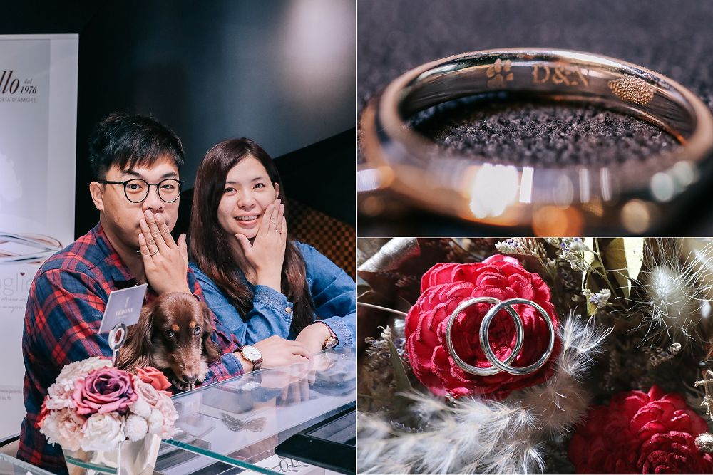 婚戒推薦》Verona FINE Jewelry 維諾娜訂製珠寶。毛小孩指紋戒,毛小孩見證愛情,獨一無二專屬愛情印記