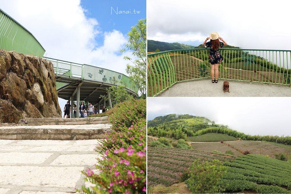 雲林石壁》雲嶺之丘。海拔1630公尺草嶺觀景台,眺望360度無敵山景,翠綠茶園,孟宗竹環繞彷佛山中仙境