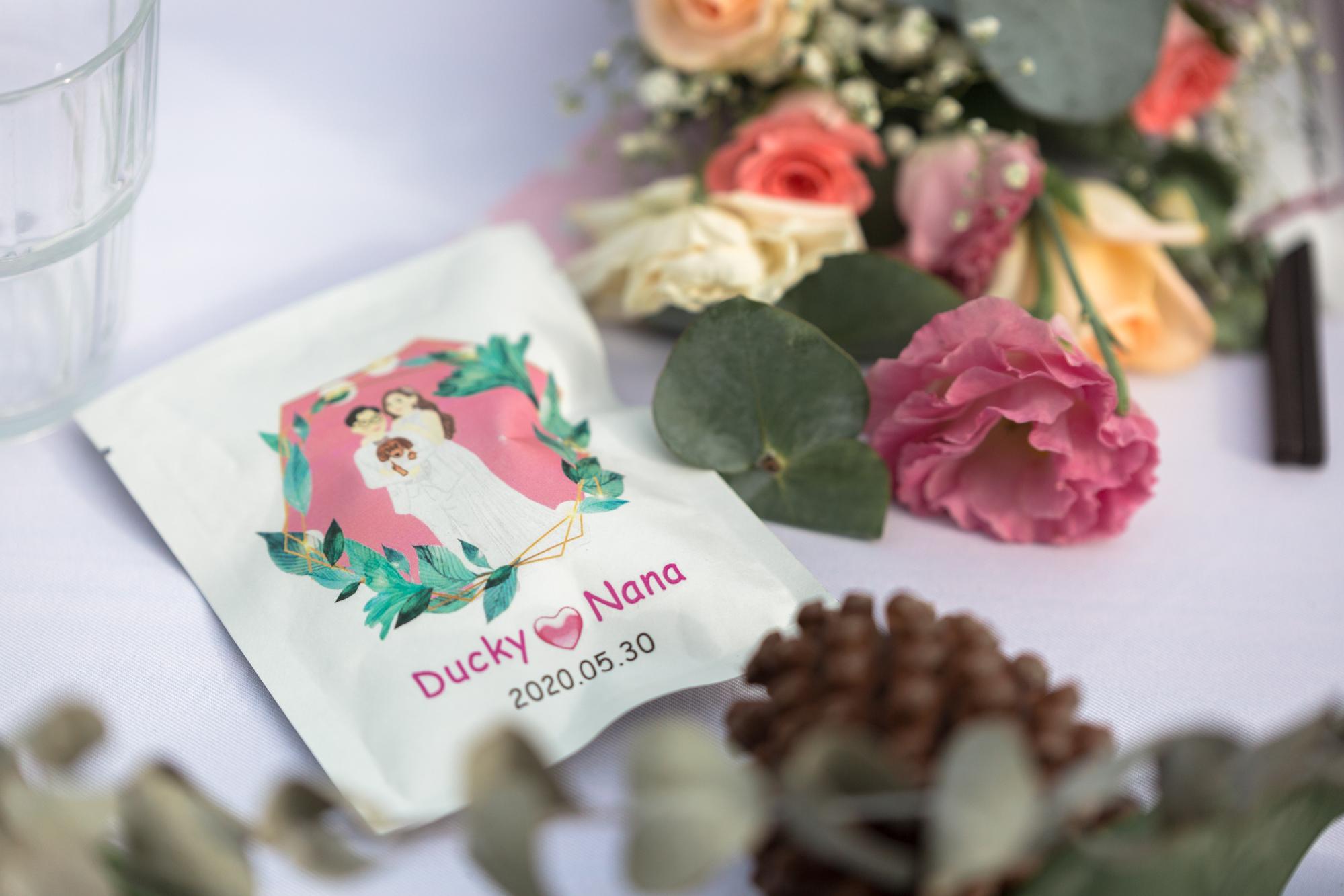 員林 新仁安中藥房。婚禮小物桌上迎賓禮 客製化茶包