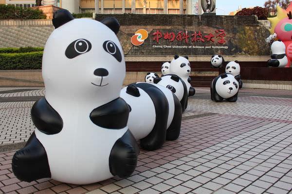 【員林旅遊景點】驚!熊貓萌軍攻佔學校?萌翻全場可愛指數破表❤中州科技大學